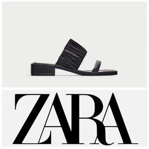 NWT Zara Woman Striped Insole Double strap sandals